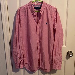 Men's cotton button down-large